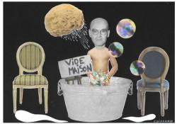 Bonheur du jour, tub, coiffeuse, venez tous au vide-maison organisé par José Cabanis
