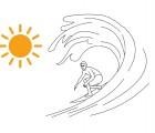 Le surfeur doit se protéger du soleil... mais pas avec n'importe quoi !