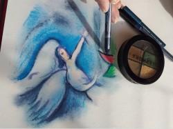 """Hommage à Marc Chagall dit """"au fard Séphora bleu"""""""
