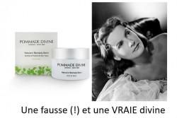Pommade divine, c'est l'histoire d'un cosmétique (parmi d'autres, hélas !)  qui se prend pour un médicament