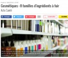Réponse à La dépêche : non, les ingrédients cosmétiques ne sont pas des armes chimiques !