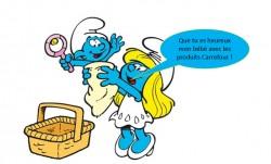 Les produits bébé Carrefour, c'est Schtroumpfement bien !