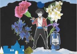 Souvenirs parfumés sous une lumière bleue