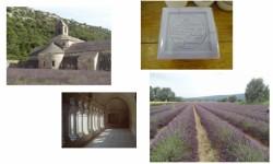 A l'abbaye de Sénanque, le savon est bleu comme le ciel !